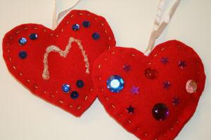 Felt Heart Decorations