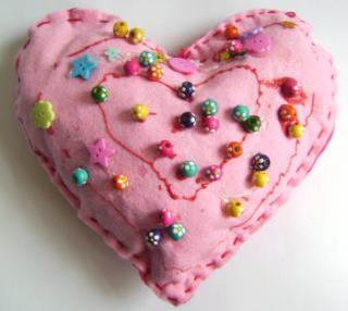 Felt Heart Pillow