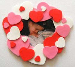 Foam Heart Photo Frame