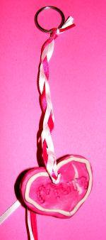 Heart Plaque Key Ring