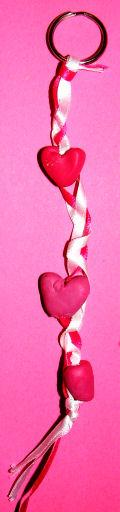 Ribbon Heart Key Ring