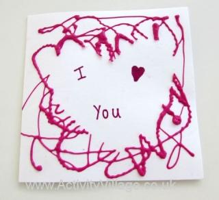 Heart Template Card