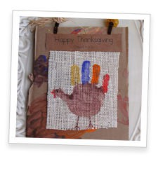 Hand Print Turkey Keepsake