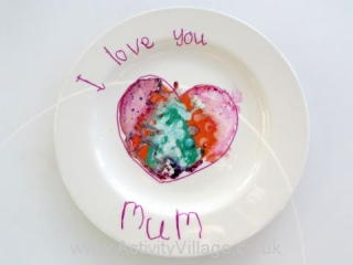 Marbled Heart Plate