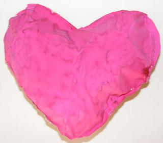Paper Heart Pillow