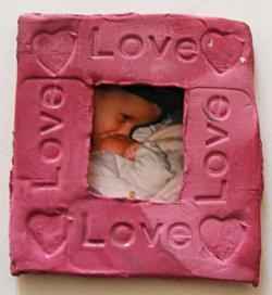 Rubber Stamped Photo Frame