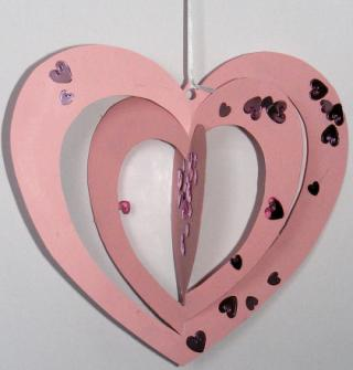 Twirly Heart Mobile