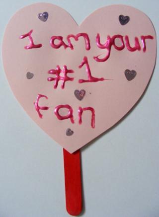 Valentine Fan Craft